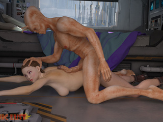 Kidnapped woman bangs with a horny as hell alien - Picture 2
