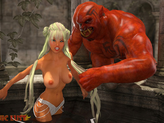 Blonde with massive boobies bangs with a satan - Picture 2