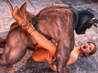 Horned black beast nicely fucks a lusty female - Picture 3
