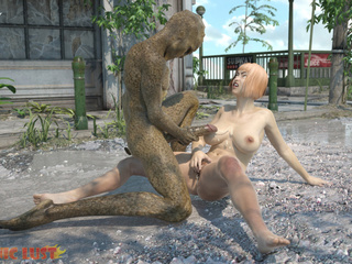 Big-ass girl have nasty sex with a snake-like man - Picture 6
