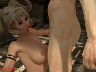 Disgusting beast with big cock and satanic slut - Picture 6