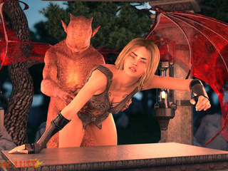 Dirty as hell demon and a big-boobed sex angel - Picture 3