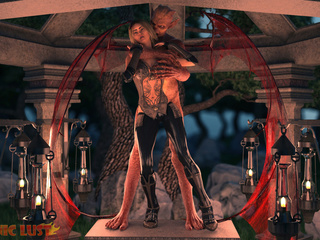 Demon with red wings hardly ramming a submissive - Picture 2