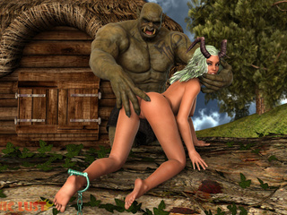 Goddess of your dreams banged by the nastiest monster - Picture 1