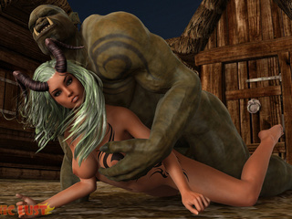 Goddess of your dreams banged by the nastiest monster - Picture 4
