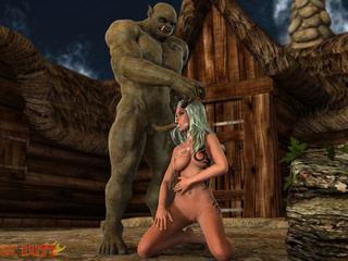 Sex monster pounds a horned angel from behind - Picture 5