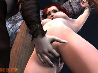 Semi-wolf semi-man treats a busty redhead bitch - Picture 3