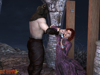 Filthy demon is treating an innocent redhead princess - Picture 3