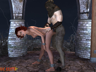 Filthy demon is treating an innocent redhead princess - Picture 6