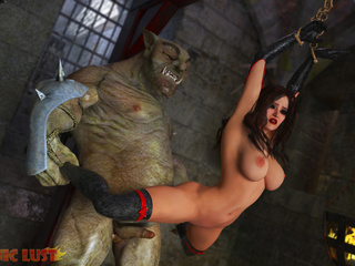 Outstanding busty brunette banged in the dungeon by - Picture 5