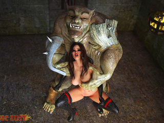 The nastiest big beast and a first-class brunette - Picture 6