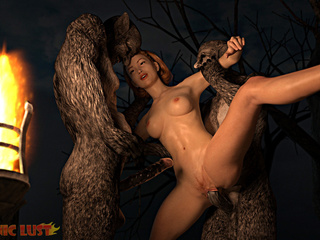 Busty bitch with shaved pussy and insane satanic - Picture 3
