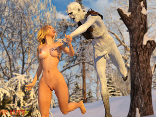 Angry winter creation drills a busty golden blonde - Picture 4
