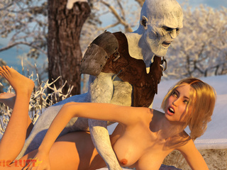 Angry winter creation drills a busty golden blonde - Picture 6