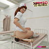 Nurse in stockings smothers her slave's face in the ward