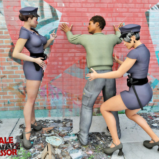 Two policewomen shemales have arrested and banged a - Picture 1