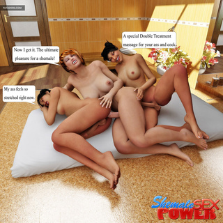 Three outstanding shemales have an awesome threesome - Picture 4