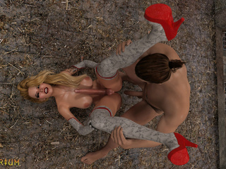 Dominator bangs a chained shemale in the castle - Picture 6