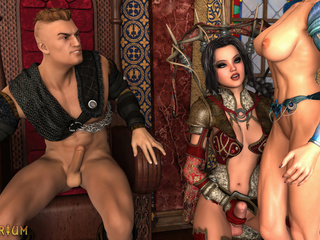 King and queen are having nasty sex with a lady boy - Picture 4