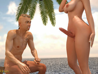 3D shemale knows how to fuck in a right way - Picture 3