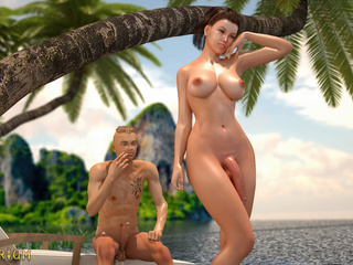 Perfect transsexual sex with a big-breasted shemale - Picture 3