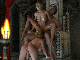 King have insanely hot sex with the lustiest traps - Picture 2