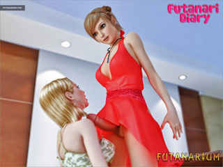 Sexy trassexual in red dress gets a gorgeous blowjob - Picture 5