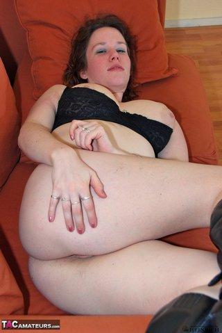 chubby redhead black underwear