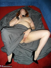 collared redhead with huge