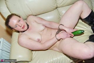 handcuffed redhead collar black