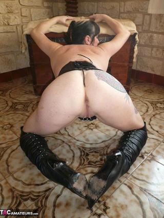 older slut leather corset