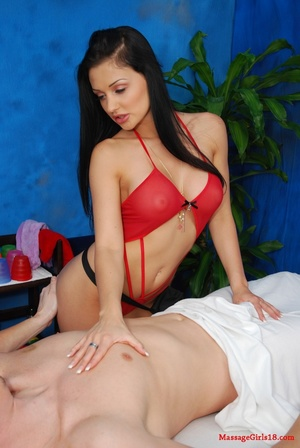Raven haired goddess in a red swimsuit g - XXX Dessert - Picture 8