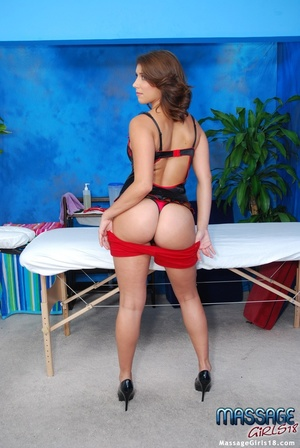 Naughty babe in a kinky black lingerie s - XXX Dessert - Picture 2