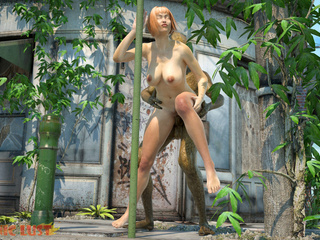 Alien with snake skin drills a sex-addicted 3D lass - Picture 5