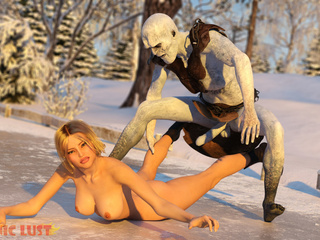 3D monster sex with a big-boobed blonde that loves - Picture 2