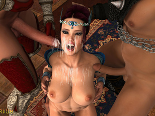 Insanely hot 3D threesome in the castle with - Picture 6