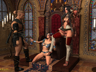Anal and oral sex with two transsexuals and a knight - Picture 2