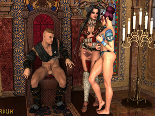 Anal and oral sex with two transsexuals and a knight - Picture 3