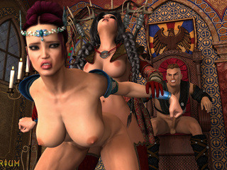 Anal and oral sex with two transsexuals and a knight - Picture 4