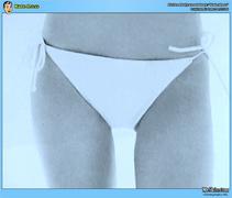 bikini, celebrity, topless, white