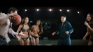 topless girls playing basketball