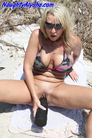 delicious blonde slut wears
