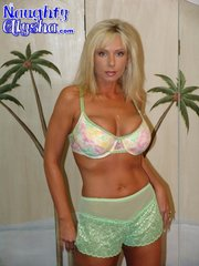 golden skinned blonde with
