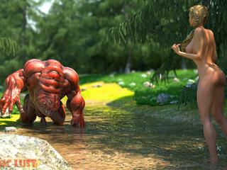 The nastiest 3D monster banged a slutty angel - Picture 1
