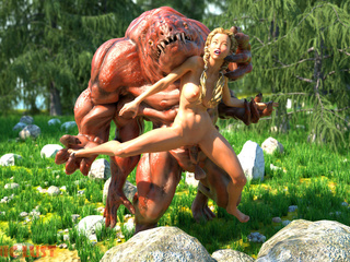The nastiest 3D monster banged a slutty angel - Picture 3