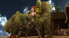Insanely big green monsters cums on a redhead