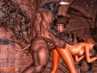 Muscled 3D demon gives this slut what she really - Picture 5