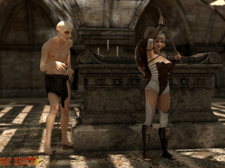 Disgusting 3D demon pounded a hot-shaped blonde - Picture 1