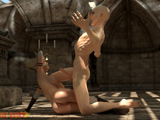 Disgusting 3D demon pounded a hot-shaped blonde - Picture 2