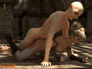 Disgusting 3D demon pounded a hot-shaped blonde - Picture 3